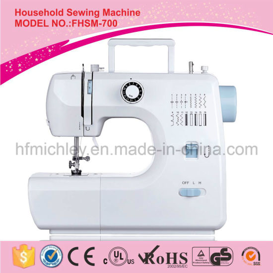 China Factory Mini Electric Portable Sewing Machine for Household (FHSM-700)