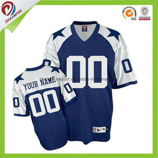 f9c2e71f9 100% Polyester Custom Sublimated Wholesale Blank American Football Uniforms  Jersey