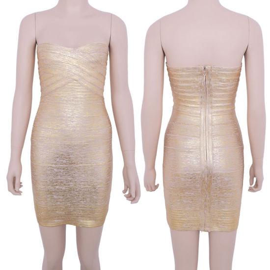 Wholesale Colorful Sexy Bandage Dress Cocktail Dress Celebrity Dress