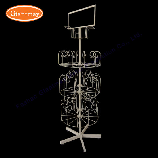 China Supermarket Store Wire Shelving Floor Standing Iron Hand Magnificent Puppet Display Stand