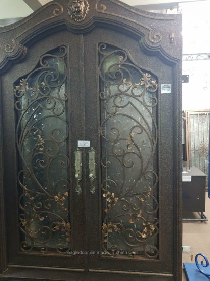 French Exterior Doors Steel: China Arched Wrought Iron French Double Front Entry Doors