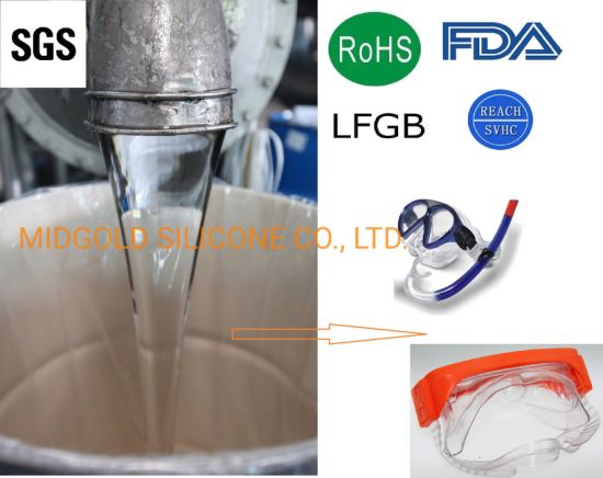 Transparent LSR Silicone Rubber for Swimming Accessories, Baby Feeding