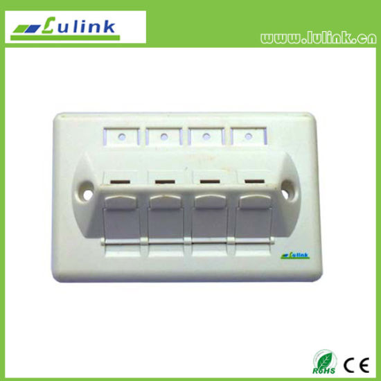 120 Type Inclined 45 Degree 4 Port Network Faceplate