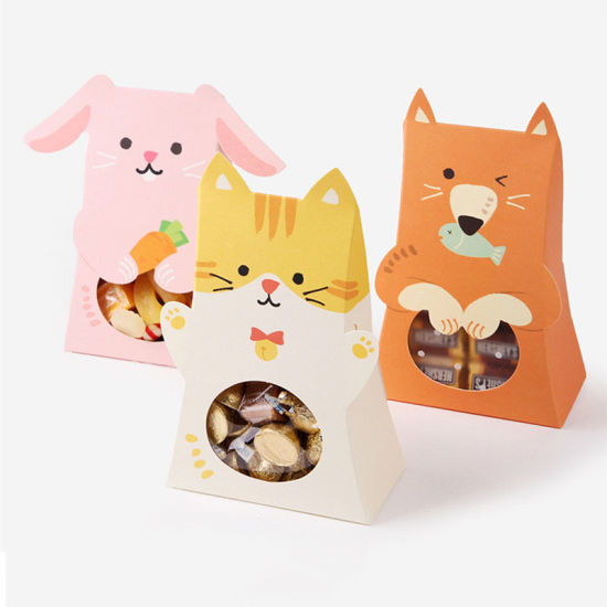Cute Cat Rabbit Animal Paper Candy Box Kid Boys Girls Birthday Party Decoration Baby Shower Paper Gift Chocolate Cookie Bag pictures & photos