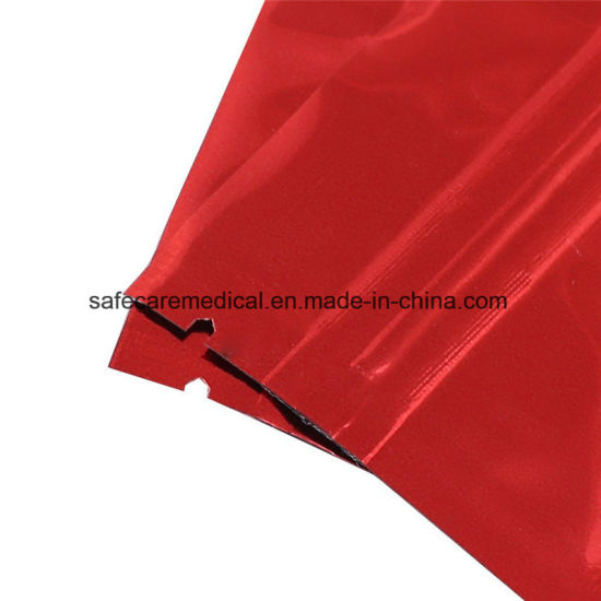 RED STAND UP POUCHES HEAT SEAL FOIL ZIP LOCK BAG FOOD GRADE MYLAR POUCHES