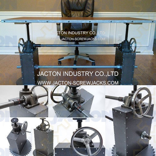 Hand Operated Worm Drive Gearbox Lift Industrial Crank Coffee Table Office Desk Lift Table Raising Mechanism