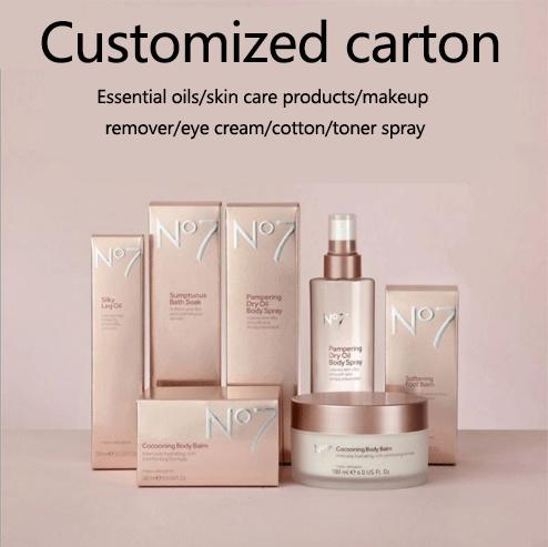 Custom Luxury Cosmetic Oil Beauty Products Fake Eyelashes Skin-Care Perfume Makeup Art Paper Carton Packaging UV Printing/Folding Cardboard Packing Gift Box