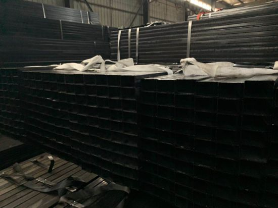 Full Black Hollow Section Steel Pipe