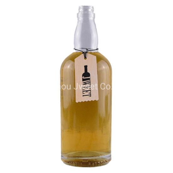 Custom Transparent High End Liquor Glass Bottle 700ml
