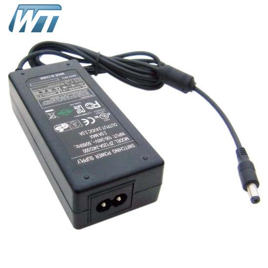 24V 2A AC/DC Switching Power Supply Desktop Adaptor OEM