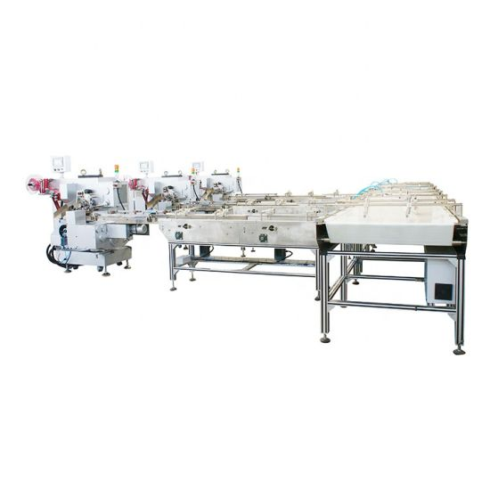 Automatic Instant Noodle/ Cup Cake/ Bread/ Biscuit/ Small Food Horizontal Flow Wrapper Pillow Pack Pouch Bag Packing Packaging Wrapping Filling Sealing Machine