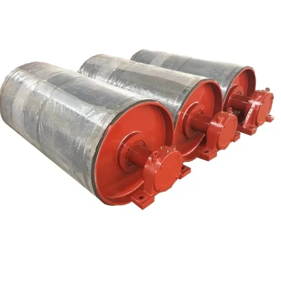 Belt Conveyor Pulley Drum with Rubber Lagging for Coal Mining