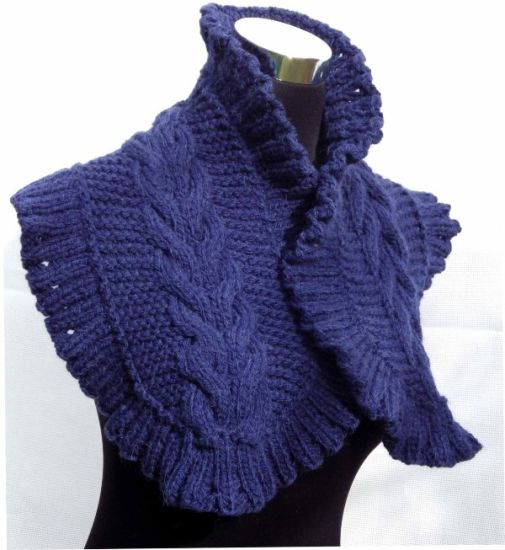Made to Order Hand knitted Scarf Shawl Made in China pictures & photos