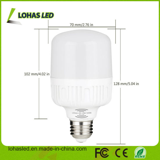 T60 T80 12W 20W E27 Radar Motion Sensor LED Bulb pictures & photos