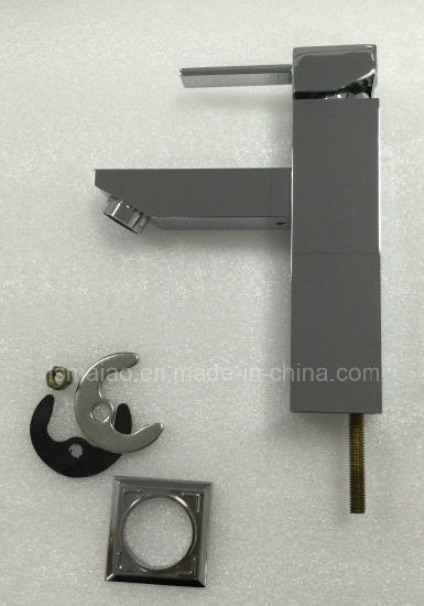 Watermark and Wels Approval Sanitary Ware Square Brass Chrome Plated Bathroom Basin Water Tap (HD4201) pictures & photos