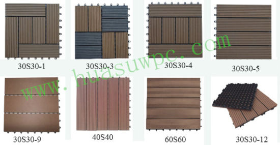 Interlocking Plastic Base Deck Tile pictures & photos