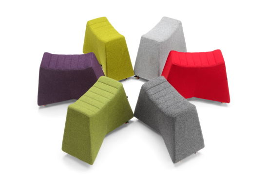 Modern Fabric Ottoman Stool Foot Rest for Living Room Furniture