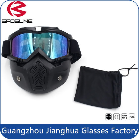 654214d2c14 Black Full Face Mask Adult Motorcycle off-Road Dirt Bike Safety Goggles. Get  Latest Price