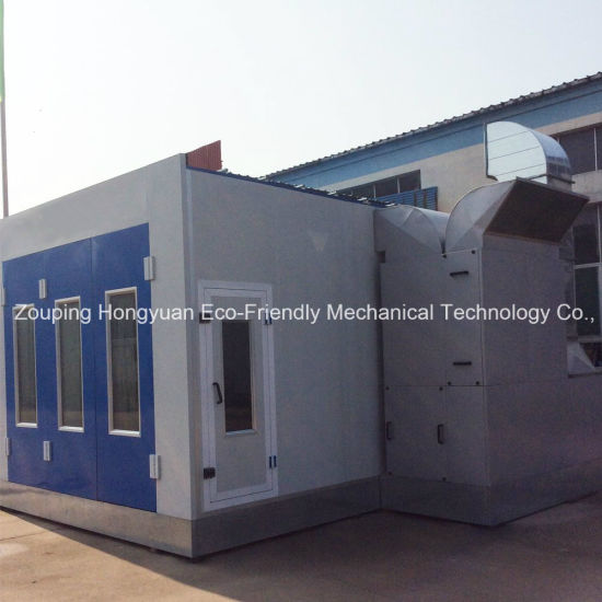 Automotive Paint Spray Booth Price with Intake and Exhaust Fan for Sale