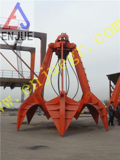 Mechanical Four Rope Orange Peel Grab Bucket for Port Crane Loading Bulk  Cargo