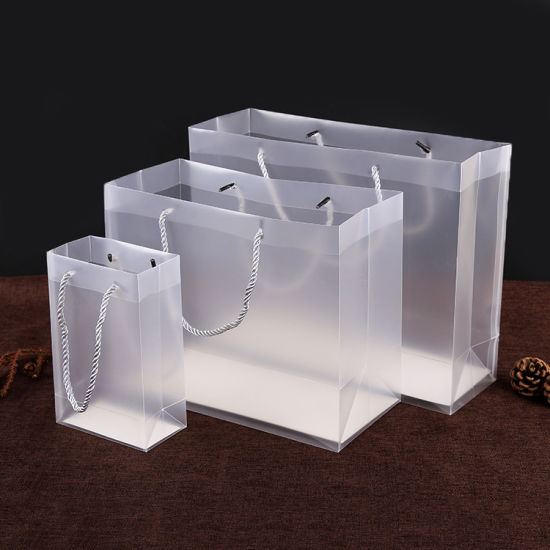 fashion handle clear gift plastic PVC hand bags & China fashion handle clear gift plastic PVC hand bags - China hand ...
