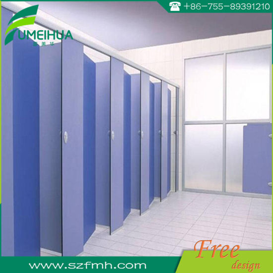Waterproof Decorative Modern Toilet Cubicle Dimensions with Accessories pictures & photos
