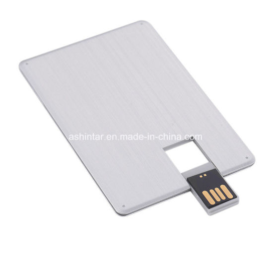 Credit Card USB Memory Stick Swivel USB Pendrive Metal USB Flash Drive pictures & photos