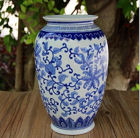Blue White Ceramic Flower Vase For Home Decoration China Blue White Ceramic Flower Vase And Big Ceramic Flower Vase Price Made In China Com