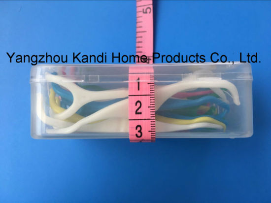 Food Grade Dental Floss Tooth Picks with ABS Handle pictures & photos