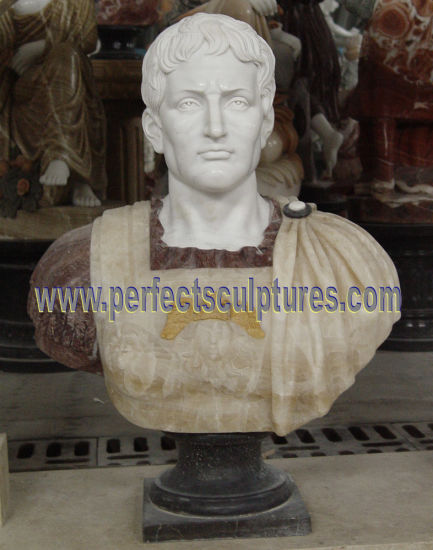 Stone Marble Head Bust Sculpture for Figurine Statue (SY-S309) pictures & photos