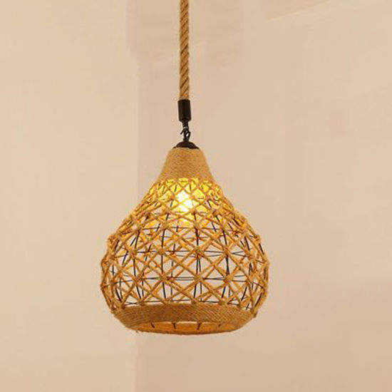 modern Chandelier with E27 with Rope for Home Lighting