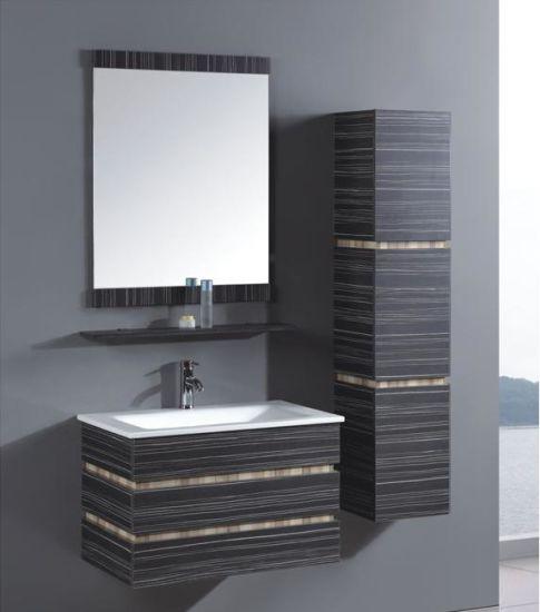 Modern Bathroom Furniture/Bathroom Glass Vanities/European Bathroom Cabinet (TH21305)