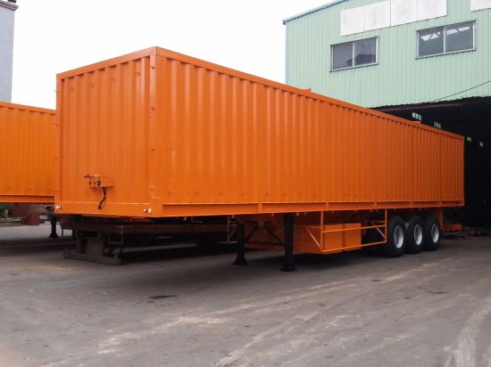 40 Feet 3 Axles Cargo High Walled Semi Trailer pictures & photos