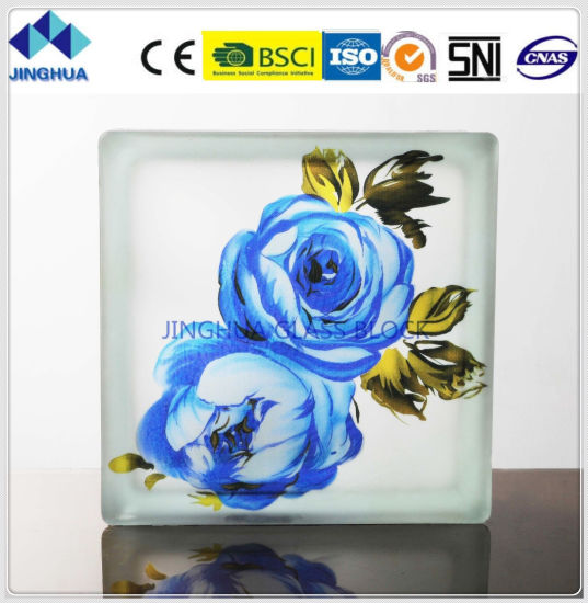 Jinghua High Quality Artistic P-25 Painting Glass Block/Brick