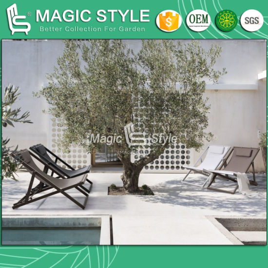 Outdoor Leisure Sling Chair Garden Textile Lounge Chair Balcony Folding Chair Veranda Patio Chair Hotel Project Textile Furniture pictures & photos