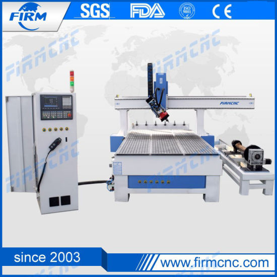 1530 Woodworking Machinery Engraving Cutting 4 Axis CNC Router Machine