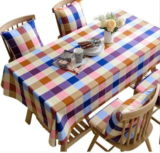 Hot Selling Rural Bright Color Cotton Table Cloth