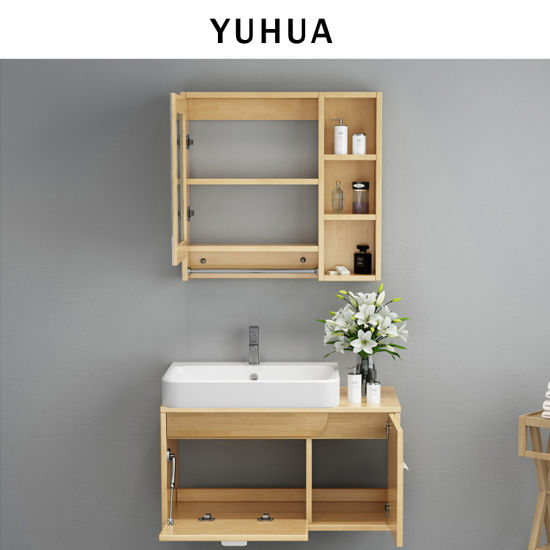 Bathroom Furniture Wall Mounted Solid Wooden Bathroom Vanity Cabinet  (YH VC5006)