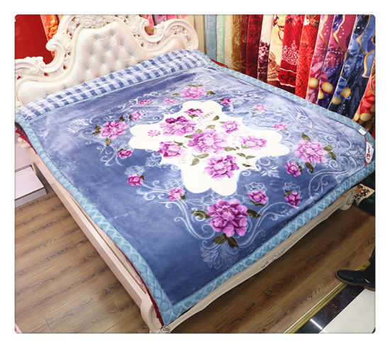 Stock Good Quality Raschel Mink Polyester Blanket pictures & photos