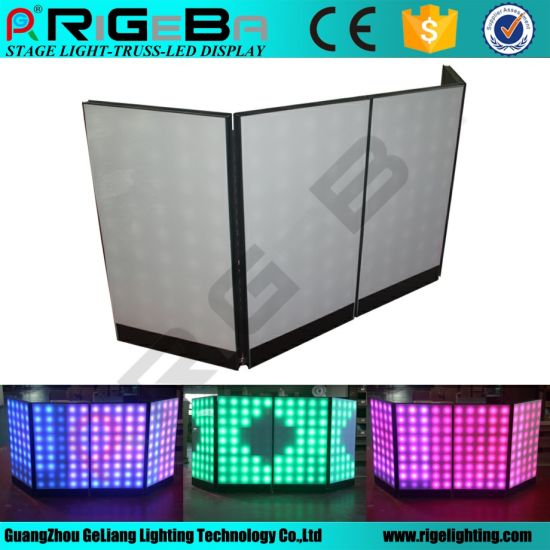 Rigeba LED Screen RGB Panel DJ Booth Facade for Indoor Use pictures & photos