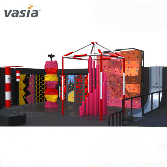 China Vasia Indoor&Outdoor Commercial Gymnastic Trampoline Park with Climbing Wall