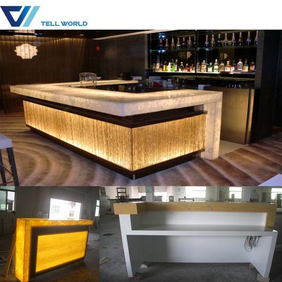 Peachy New Arrived Juice Bar Acrylic Led Nighclub Design Cafe Counter Download Free Architecture Designs Intelgarnamadebymaigaardcom