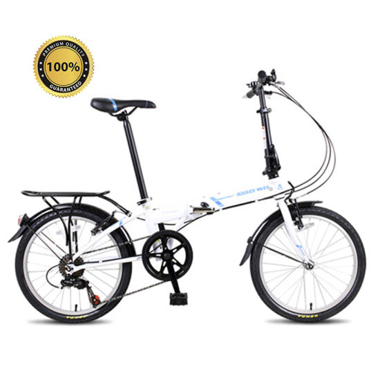 20 Inch High Quality Steel 7 Speed Students Folding Bicycle Easy Install Suspension Foldable Bike