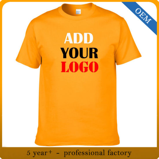 Wholesale Men Cheap Cotton/Polyester Advertising Promotional Printing T Shirt