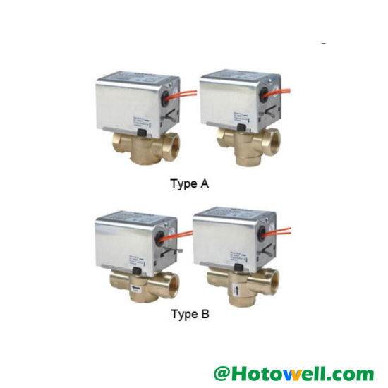 2 Way Electric Motorized Actuator Heating Diverter Mixing Valve (HTW-W27) pictures & photos