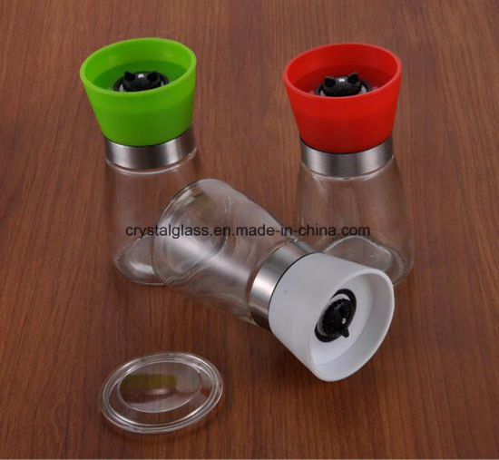 Kitchen tool glass manual pepper grinder mill grinding glass.