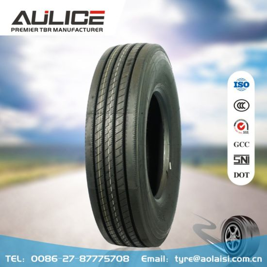 11R22.5 Tubeless Tyre AR7371 Aulice All Steel Radial Truck Bus Tyre Factory High Traction Ability Long Driving Life ISO, DOT, GCC, SNI Certification