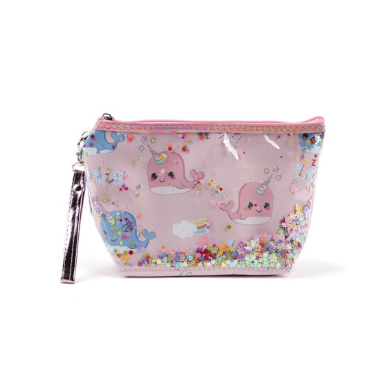 PVC Layers Cosmetic Bag with Sequins Waterproof Makeup Bag