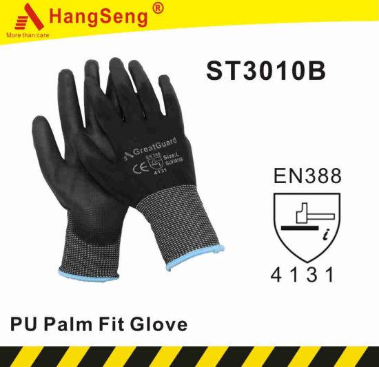Premium Quality Black PU Safety Work Glove (CE Certificated)
