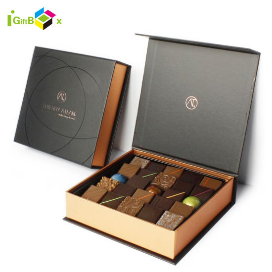 Luxury Custom Logo Printing Empty Chocolate Paper Snack Biscuit Cookies Bread Cake Food Product Sweet Truffle Chocolate Gift Packing Packaging Chocolate Box